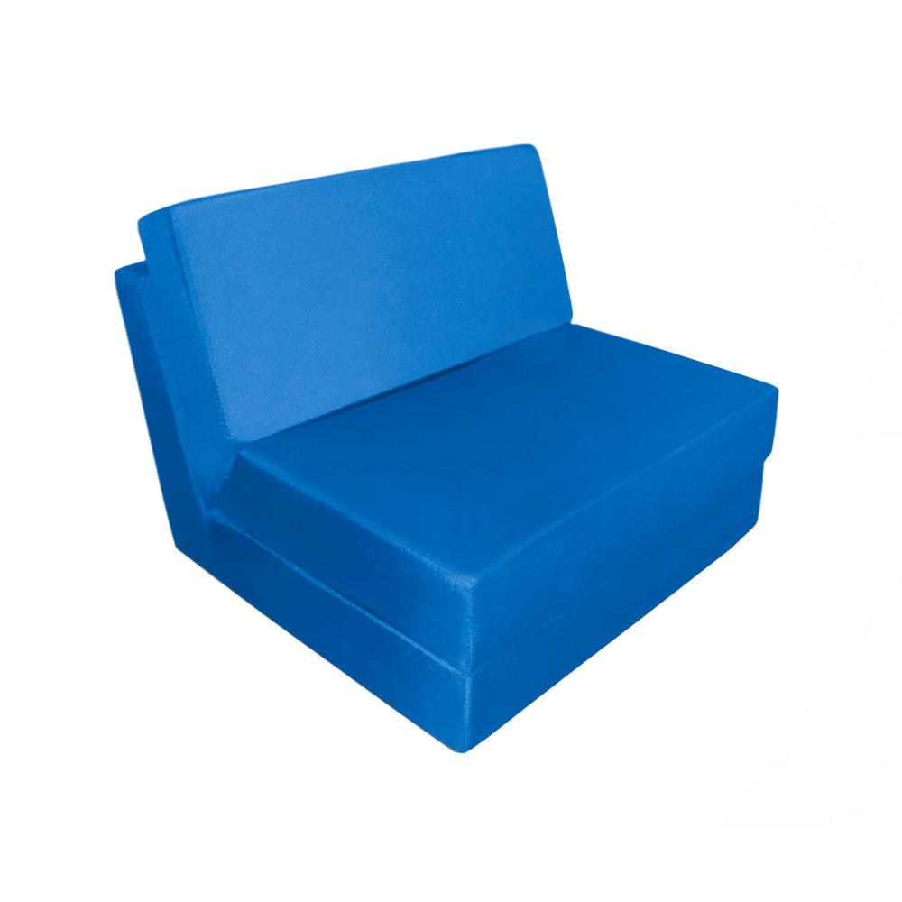 Sof cama spot azul rey sin brazos espumados for Sofa cama sin brazos