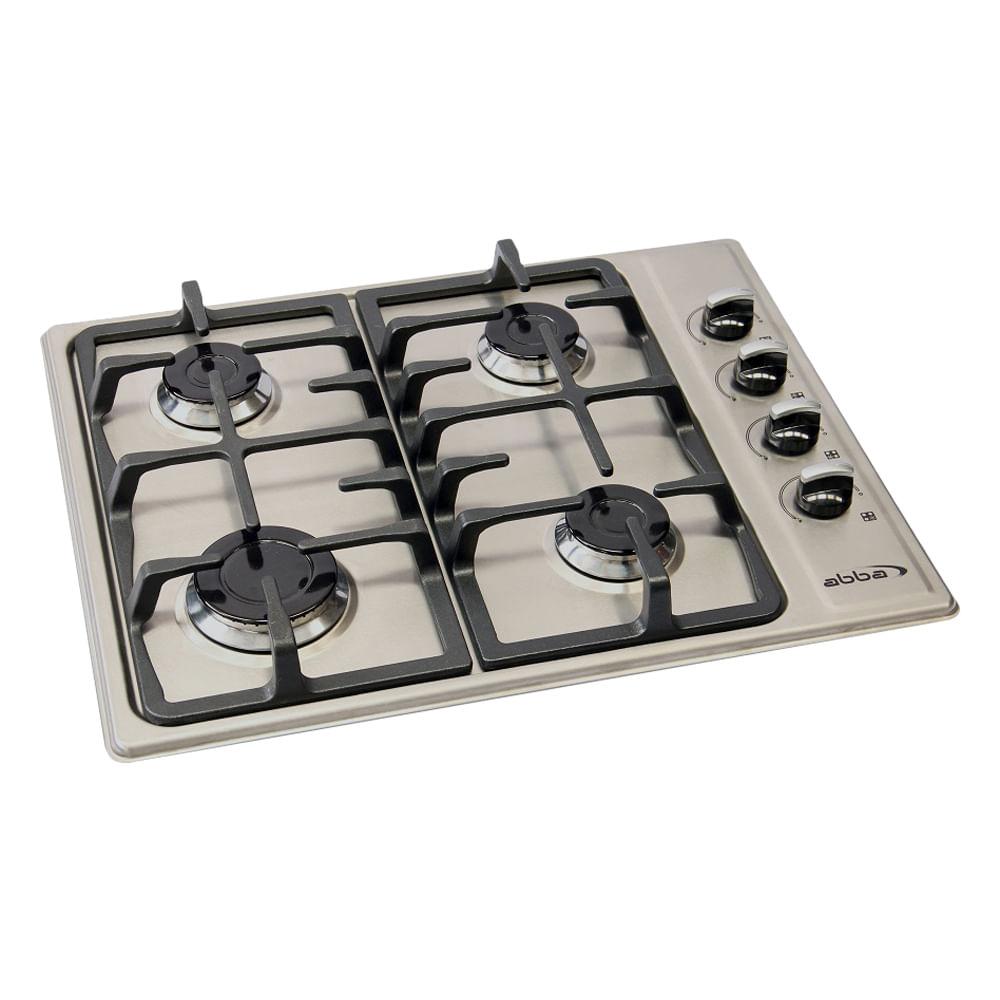 Cubierta abba inox 4 puntos gas natural for Estufas de cocina de gas