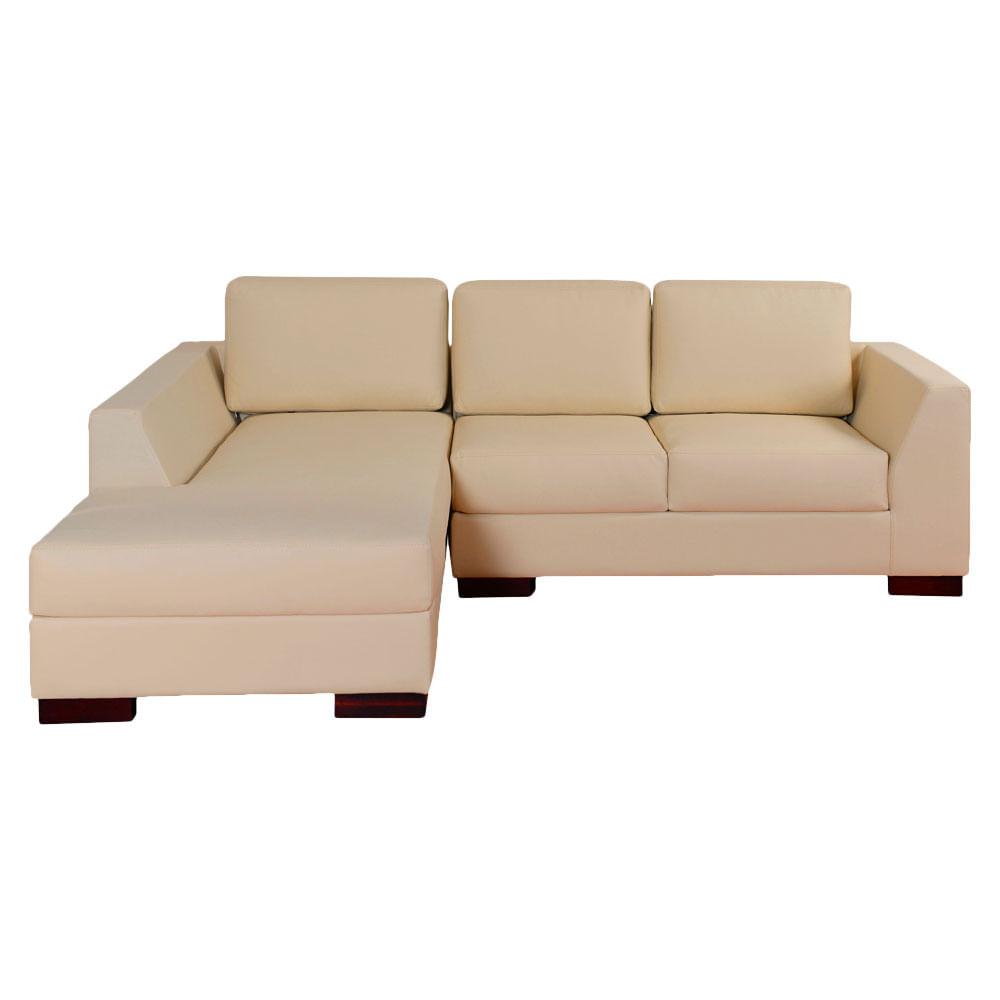 Sala en l royal taupe challenger for Almacenes de muebles
