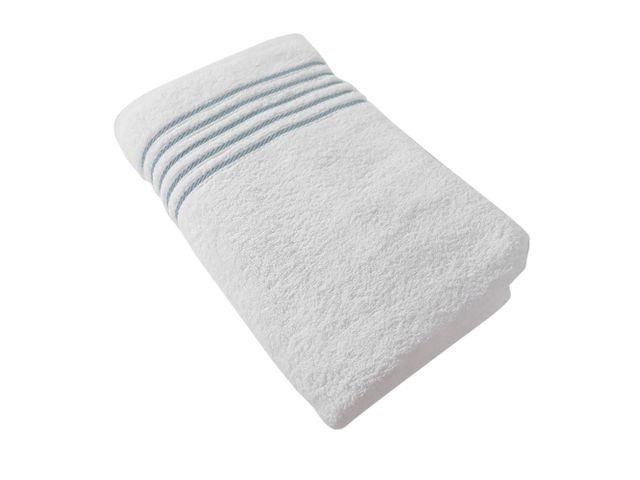 Baño Blanco Con Azul:Toalla de Baño Liz Blanco con Azul – Krea – tiendasjumboco – Tiendas