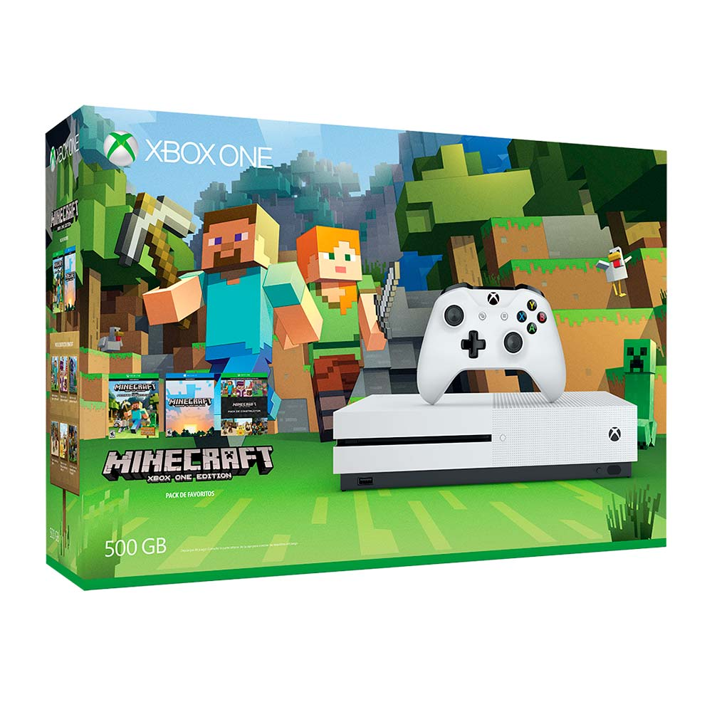 Consola XBOX ONE Slim 500GB + Videojuego Minecraft